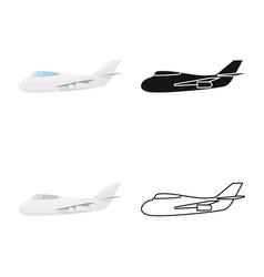 Aeroplane and air symbol vector