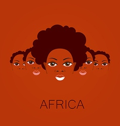 africa people sign vector image
