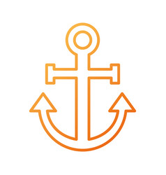 Anchor nautical beach transport recreation symbol vector