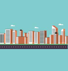 background geometry flat city landscape 02 vector image