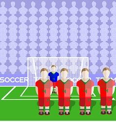 Belarus Soccer Club Penalty on Stadium vector