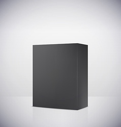 Blank box on white background vector image