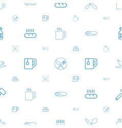 Breakfast icons pattern seamless white background vector