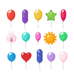cartoon balloons festive entertainment bright vector image
