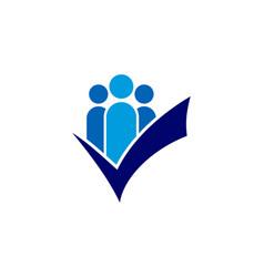 check people logo icon design vector image