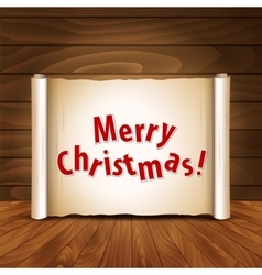 Christmas postcard on a wooden background vector
