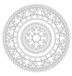 Geometric Mandala Coloring Pages Vector Images Over 970