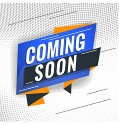 Coming soon promotional concept template for vector