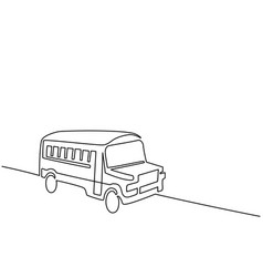 Concept school bus vector