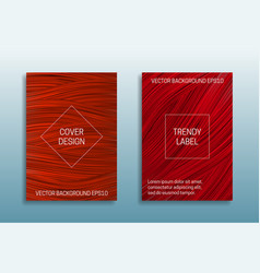 Cover templates saturated color trendy shades vector