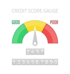 Credit score gauge vector