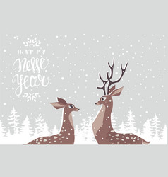 Deer couple vector