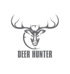 deer hunter design template vector image