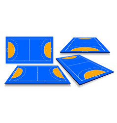 Detailed a handball field cort vector
