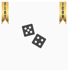 Dice flat icon vector