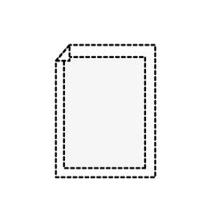 Dotted shape paper with sheet bent object design vector