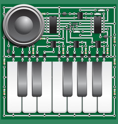 Electronic board synthesizer vector