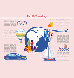 family traveling and outdoor activity infographic vector image