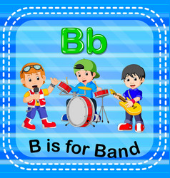 flashcard letter b is for band vector image