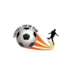 football logo for team and cup vector image