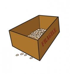 fragile box vector image