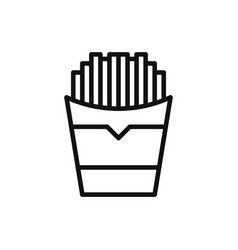 fries icon in modern style for web site and vector image