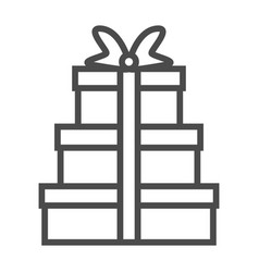 gift icon on white background m vector image