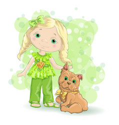 Girl blond gold 1 vector