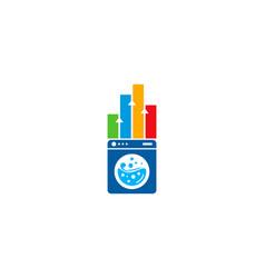 Graph laundry logo icon design vector