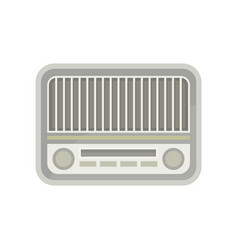 gray vintage radio with small buttons and two vector image