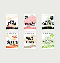 Hand drawn italian food brochures vector