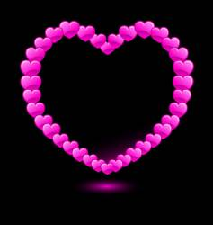 hearts forming heart shape vector image vector image