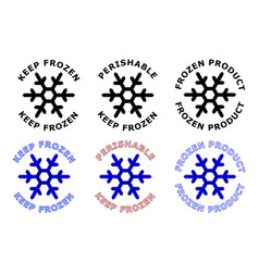 keep frozen sign snowflake symbol with text vector image