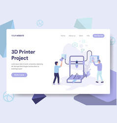 landing page template of 3d printer concept vector image
