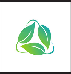 Leaf - nature icon logo vector