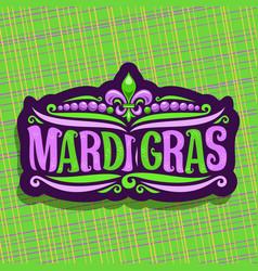Logo for mardi gras carnival vector
