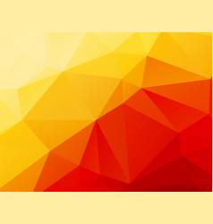 low poly geometric orange background vector image