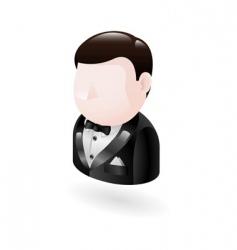 Man in tuxedo vector