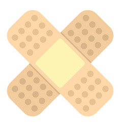medicine flat patch isolated on white background vector image