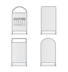 Metal empty blank advertising street handheld vector