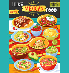 Mexican food ad poster vector