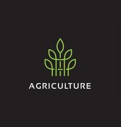 Monogram agriculture logo template design vector