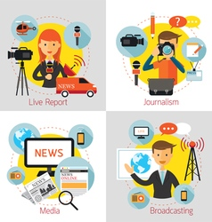 News and Journalism Concept Set vector