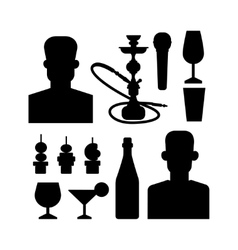 Night club icons vector image
