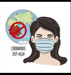 No coronavirus ncov health earth human dangerous e vector