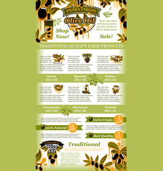 Olives poster for olive oil vector