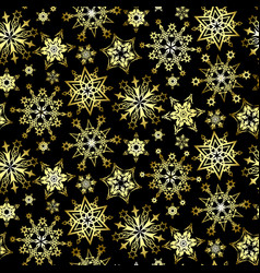 Pattern of cold snowflakes vector