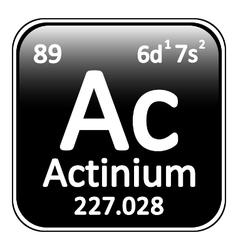 Periodic table element actinium icon vector