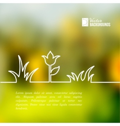 Plants of lines on a green background vector image