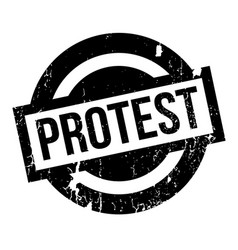 protest rubber stamp vector image